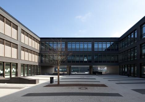 2FABRINO Realschule Betonfassade Farbe Oberflächenschutz Waschlack111