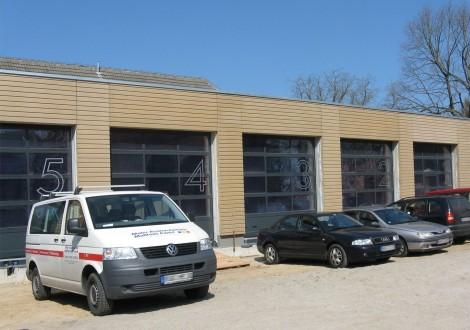 FABRINO Betogel Mikroauswaschgel Fassade Feuerwehrgebäude gesäuert