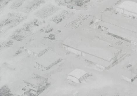 FABRINO Fotobeton Luftaufnahme Firmenzentrale Foto auf Betonelement