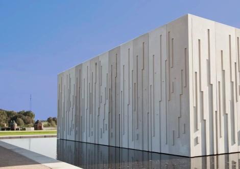 FABRINO Kunstmuseum Betonfassade abgesäuert Betogel Säuregel