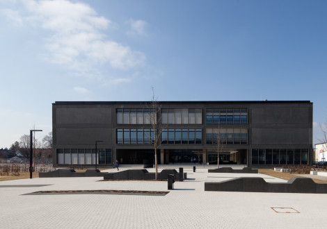 FABRINO Realschule Betonfassade Farbe Oberflächenschutz Waschlack