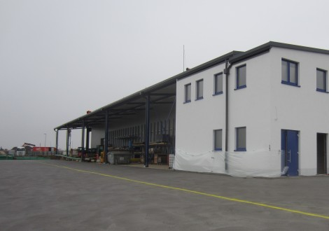 FABRINO High Grade Kunststofffaserbewehrung mit Statik Gewerbehalle und Betonaußenfläche